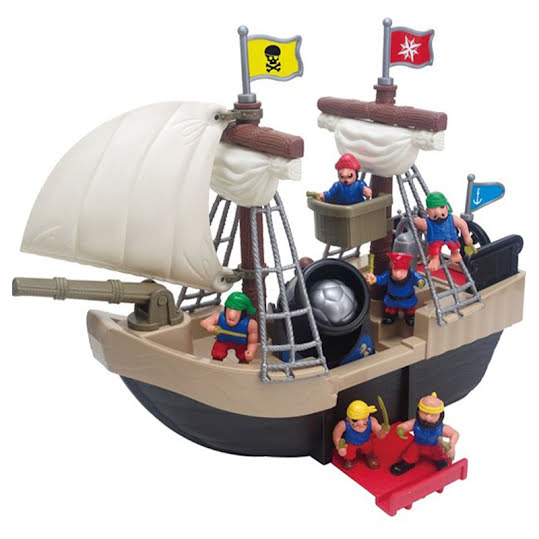 Red Box Castle Set Pirate Ship