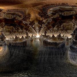 Down-Under by Rick Eskridge - Illustration Places ( fantasy, places, mb3d, fractal, twisted brush )