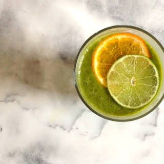 Tangerine-Lime Green Smoothie.