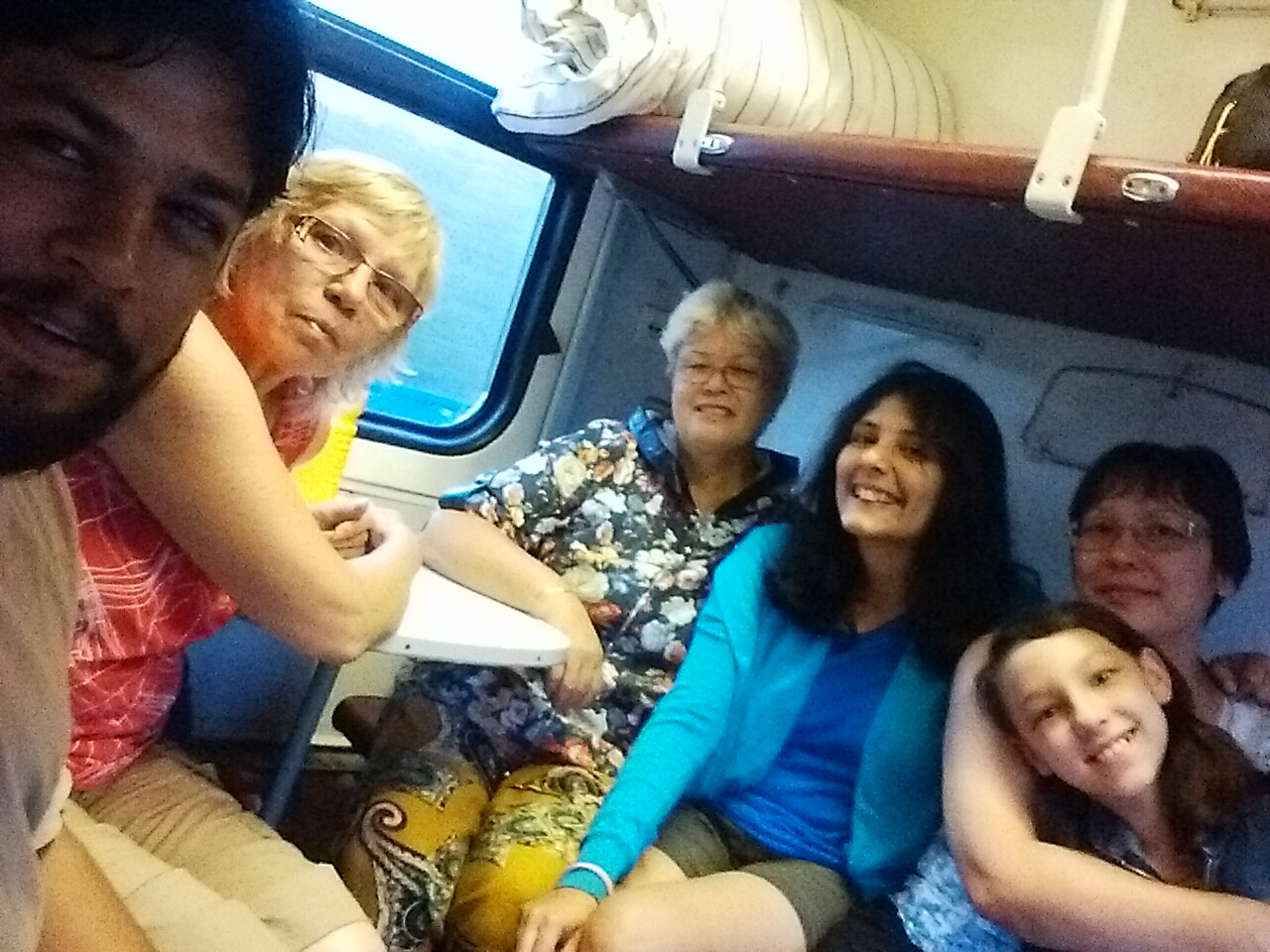 Selfie with the babushkas & devushkas on our train