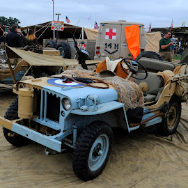 RAF Jeep by DJ Cockburn - Transportation Automobiles ( britain, world war two, willys jeep, headcorn, vehicle, automobile, ashford, kent, car, uk, raf, antique, military, england, historic, living history, display, heritage, history, transport, 2018 combined ops military & air show, transportation, second world war, vintage, royal air force )
