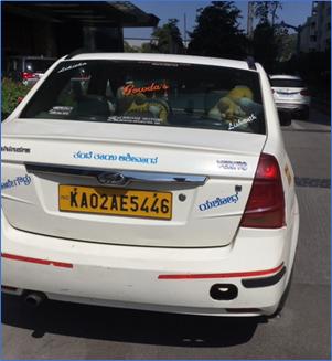 Uberの車