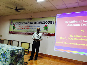 Photo: Lecutre is given by sri M Bala Chary , scientist G, Group Director DERL, DRDO ,Ministry Defence