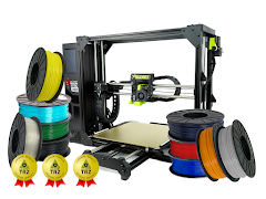LulzBot TAZ Pro S 3D Printer Professional Bundle with 3 Year Extended Warranty
