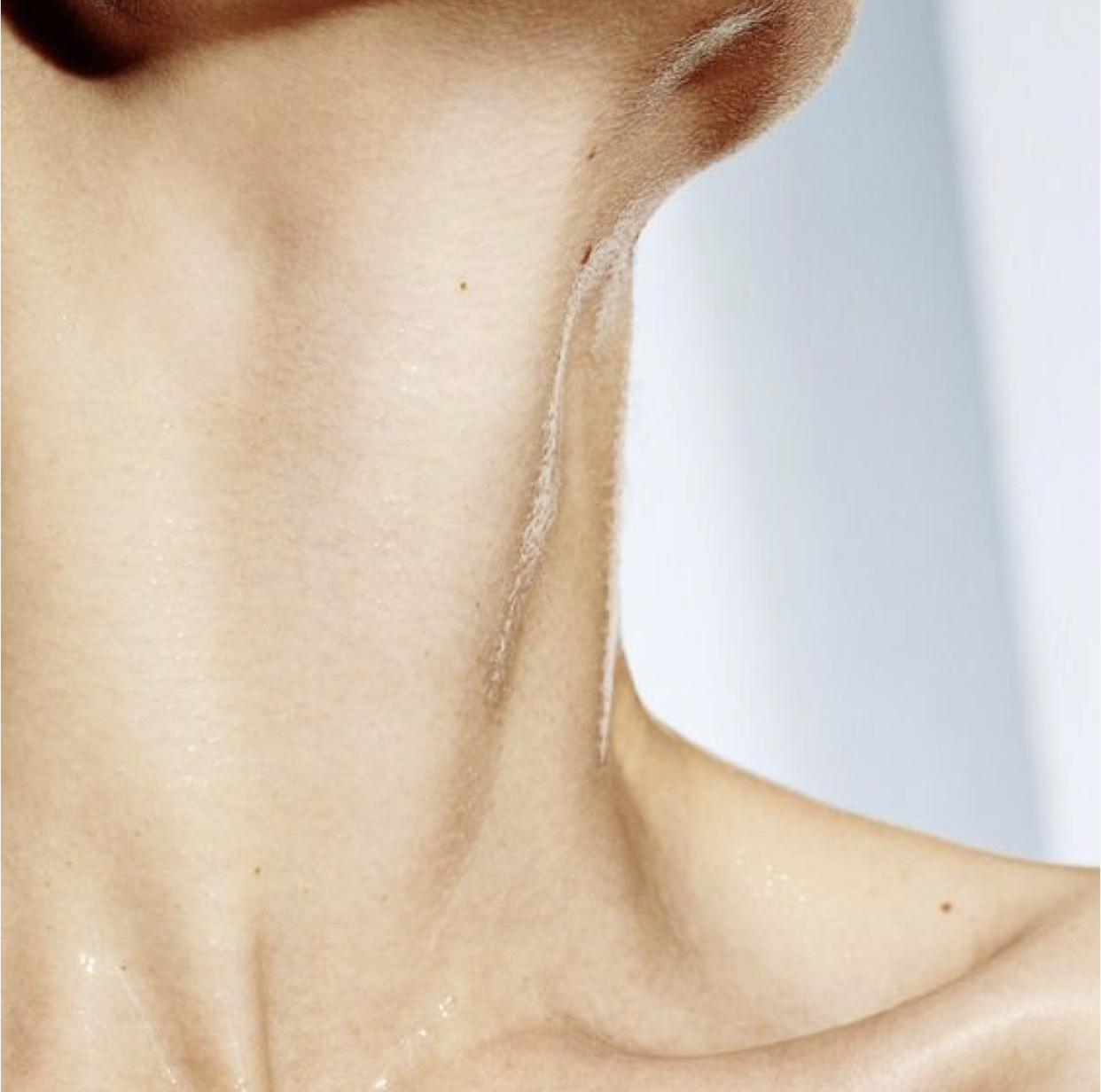 Your thyroid is located in your neck.
