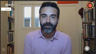 Momento de la entrevista del alcalde en Interalmeria TV