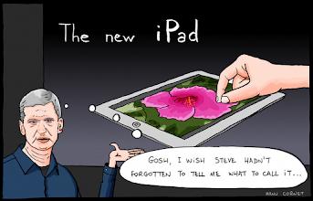 Photo: http://www.bonkersworld.net/new-ipad/ #cartoon