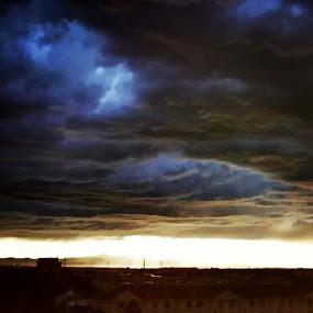 Rocky Mountain Storm by Gerardo Texidor - Landscapes Cloud Formations
