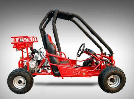 90cc Kids Dune Buggy Go Cart with Rollcage 2 seater