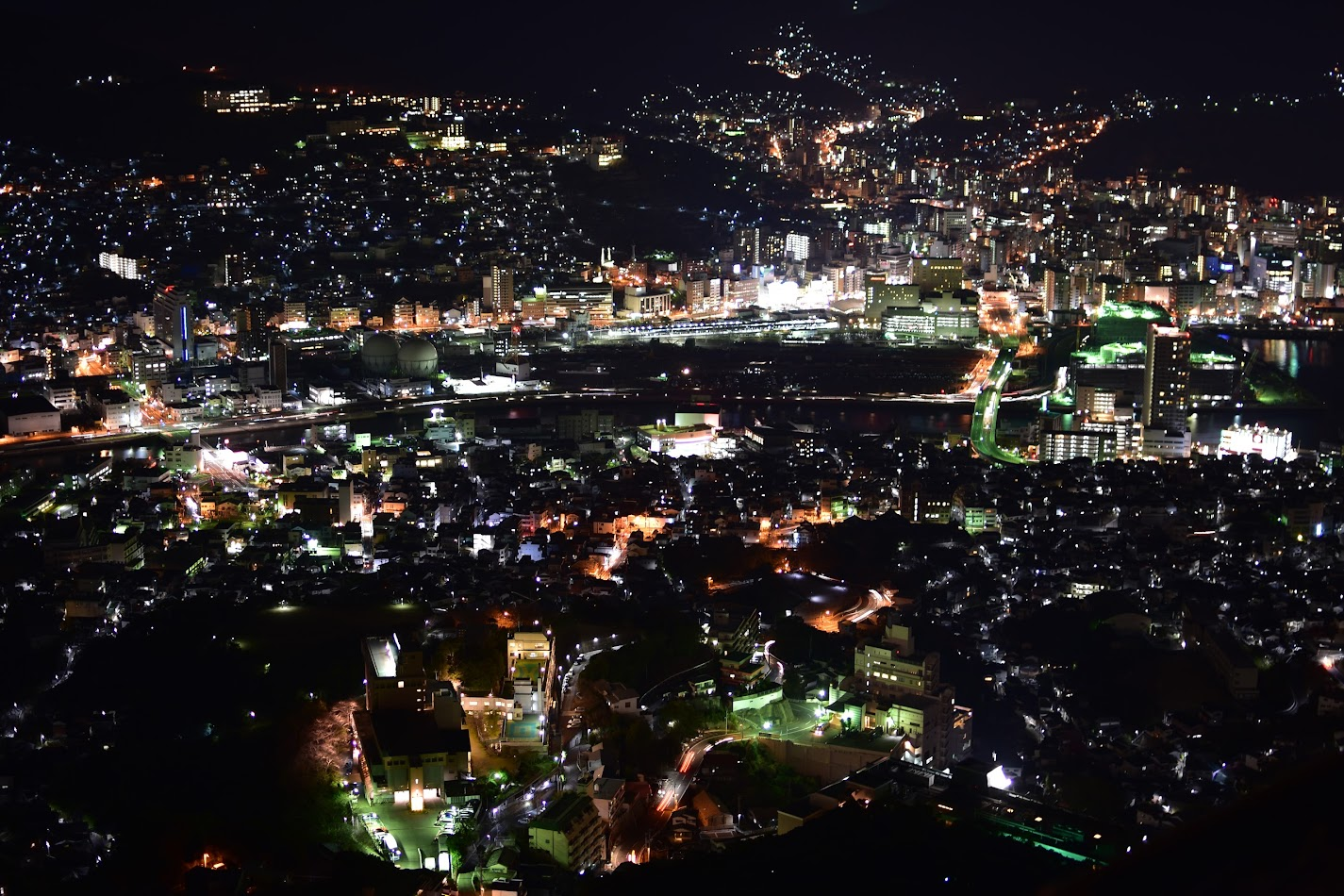 Night view from Mt. Inasa