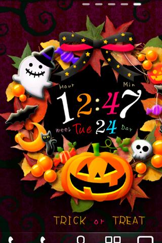 Halloween Wreath ライブ壁紙