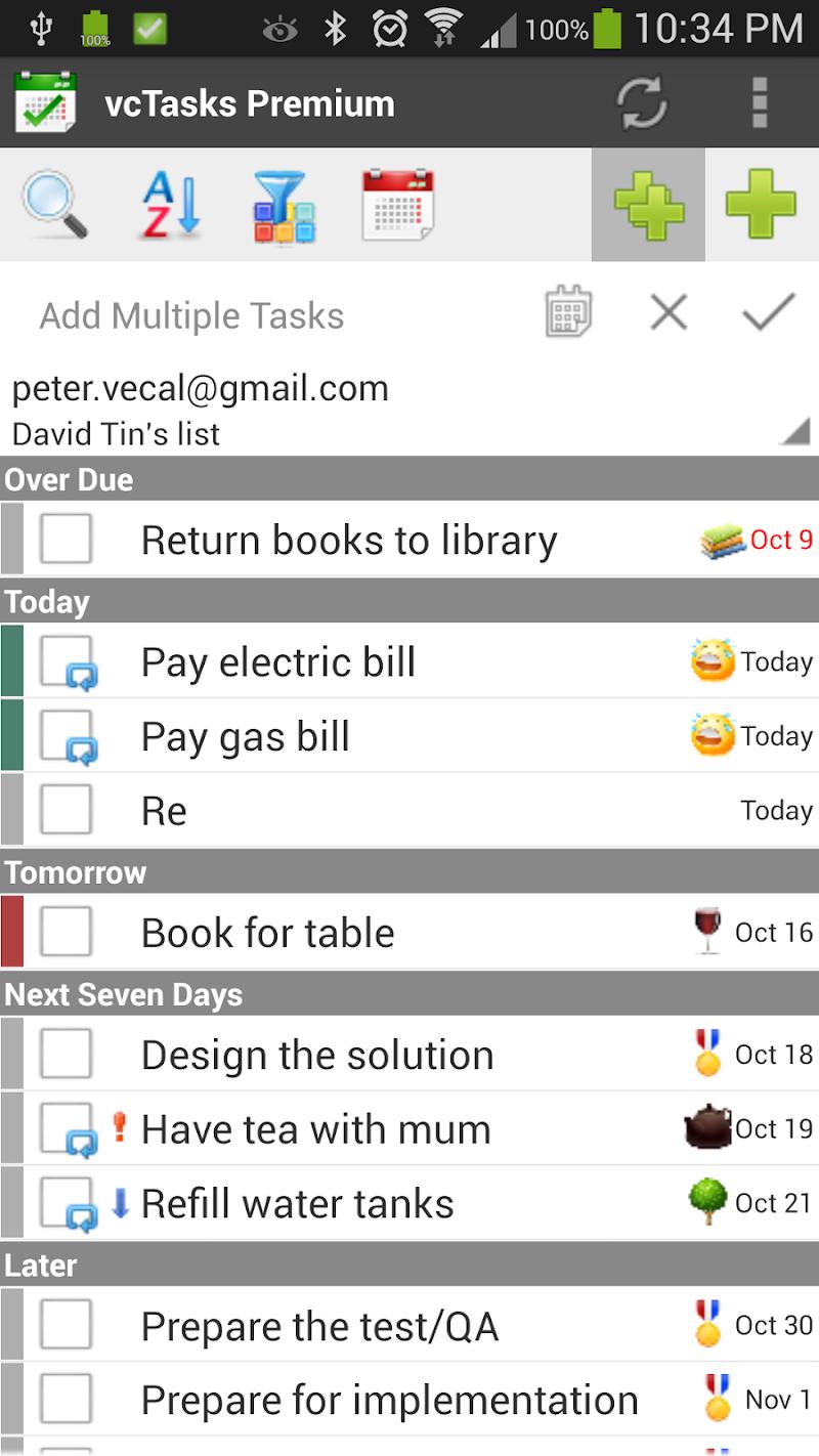 Скриншот VCOrganizer Lite