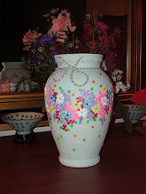 "Photo: Vase - Polymer Clay hand made.  10 3/4"" $145.00"