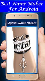 Stylish Name Maker - Name On Bangles & Bracelet - náhled