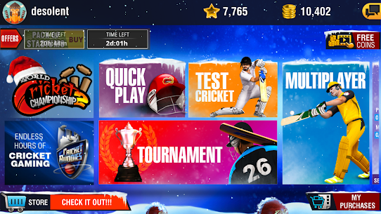 World Cricket Championship 2 MOD Apk 2.8.8.5 (Unlimited Coins) 2