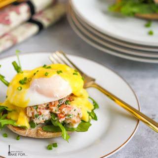 Crab Eggs Benedict.