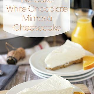 No-Bake White Chocolate Mimosa Cheesecake