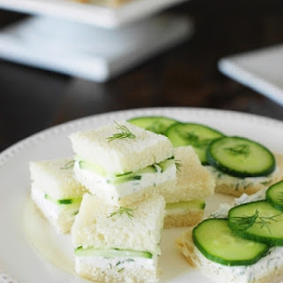 Cucumber Tea Sandwiches with Lemony Dill Spread (Printable recipe).