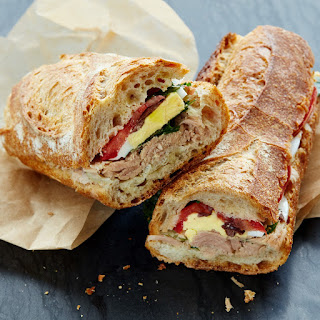Pan Bagnat Sandwich with Tuna, Anchovies, and Parsley Recipe | Epicurious.Com Recipe