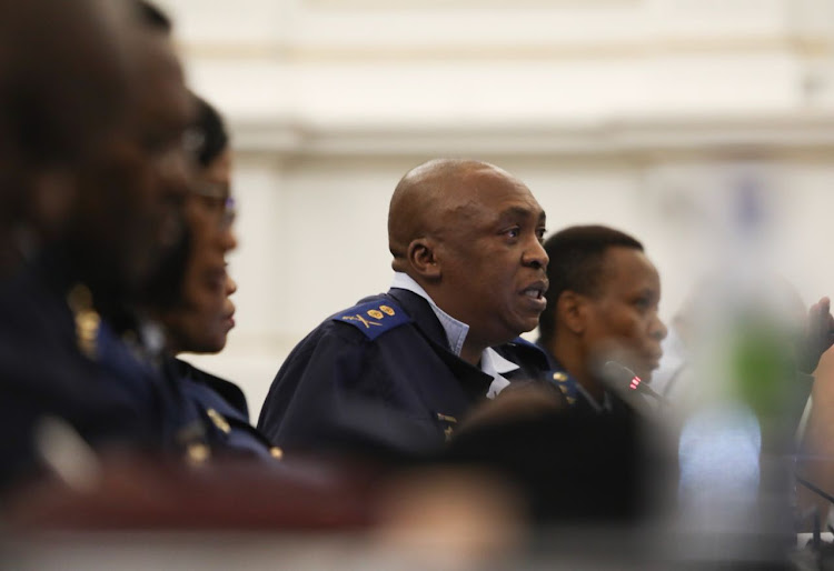 Major-General Norman Sekhukhune disclosing the 2017/18 crime statistics at parliament on September 11 2018.