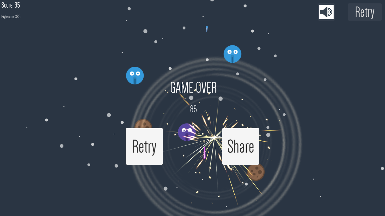 Space Monster - 2D shooter- screenshot