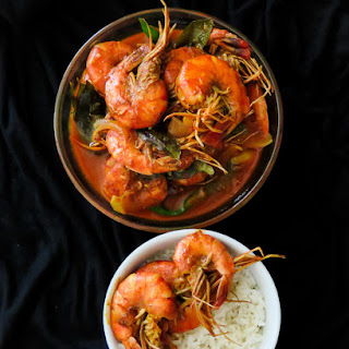 Srilankan prawn curry cooked in Coconut milk
