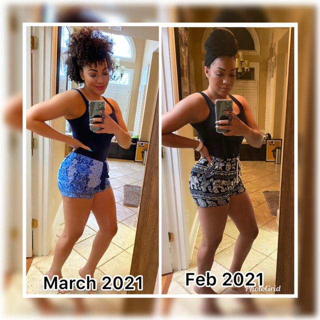 before and after feb to march 2021 fitness shot