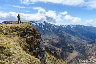 Photo: Eastern Mamores and Glen Nevis from Meall Cumhann