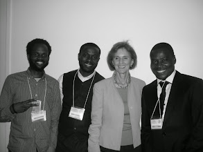 Photo: Igeoma, Williams, & Gillian Sorensen Senior Advisor, United Nations. Former Assistant Secretary-General, United Nations
