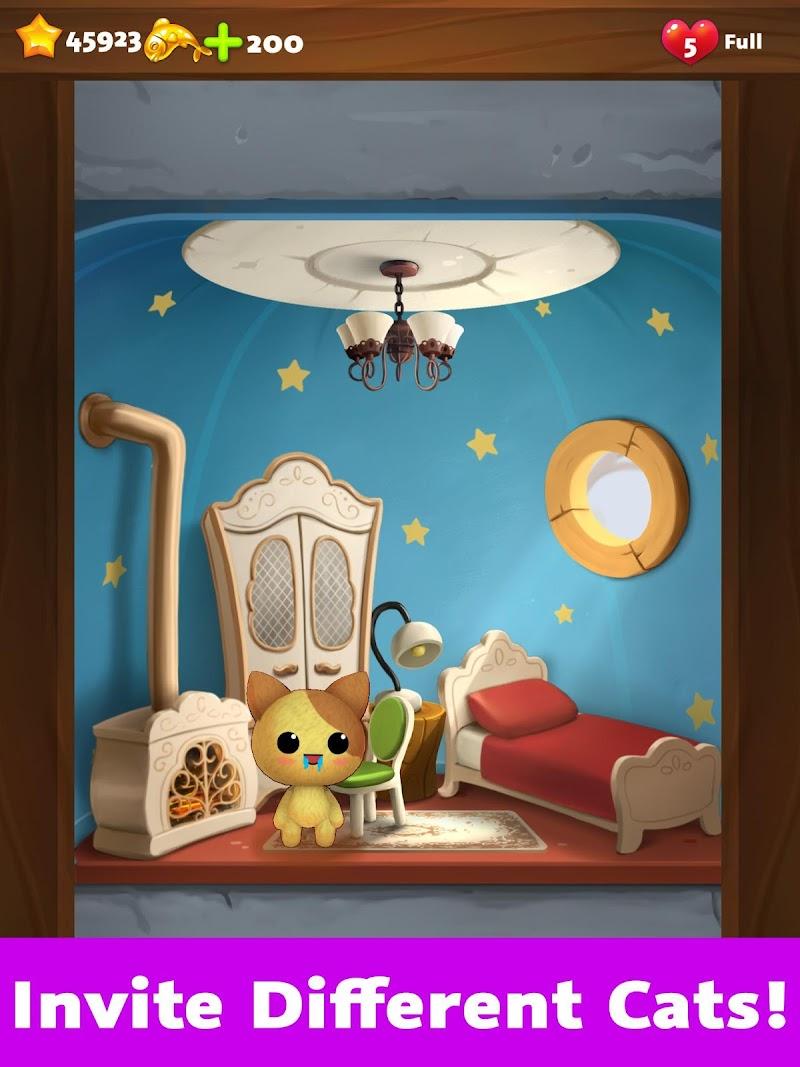 Cat Home Design: Decorate Cute Magic Kitty Mansion Screenshot 4