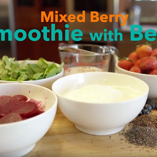 Mixed Berry and Beet Smoothie.