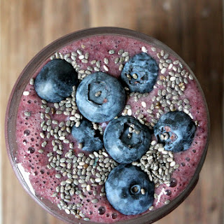 Wild Blueberry Banana Spinach Power Smoothie.