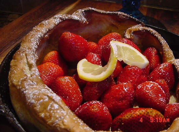 FILL THE DUTCH BABY WITH FRUITFill with an assortment of fruit or berries. ...