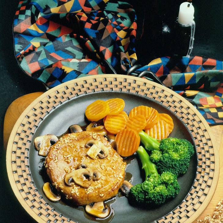 Honey-Sesame Pork Chops Recipe