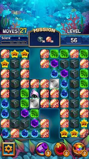 Jewel Abyss: capturas de pantalla de Match3 5
