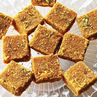 Microwaveable Besan Barfi (Gram Flour Sweet)