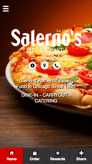 Salerno's Pizza- screenshot