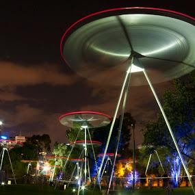 White Night 2015 Melbourne Australia by Amanda Wilson - City,  Street & Park  City Parks ( park, melbourne, chorus )