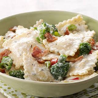 Quick & Easy Ravioli with Bacon.