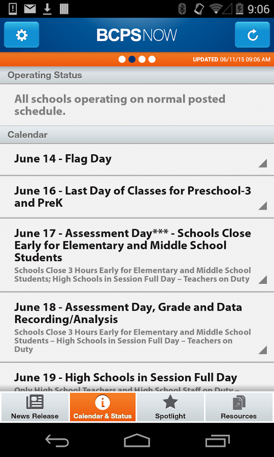 BCPS Now- screenshot