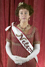 Photo: Fanny, Nelson's wife, wearing a sash bearing his name (as was the fashion)