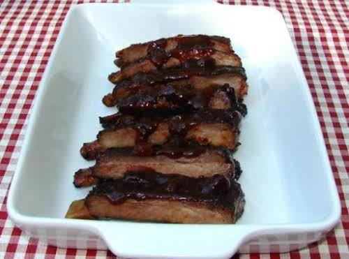 "Blazin' BBQ Rum Raisin Ribs""It's been a tradition of men on the..."