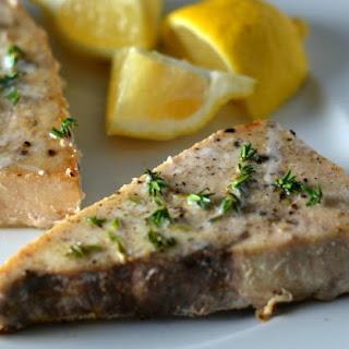 Swordfish Steaks with Lemon & Thyme Recipe