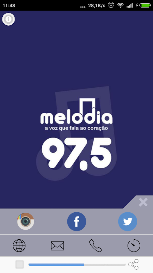 Melodia FM- screenshot