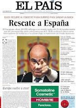 """Photo: Rescate a España. La información y análisis, el editorial """"Europa vuelve a creer"""", sondeo de METROSCOPIA: """"El 64% daba por hecho el rescate"""", preguntas y respuestas: """"¿Qué pasará con mis ahorros?"""". Además """"El Vaticano se mancha con el dinero de la Mafia"""", entre los temas de nuestra portada de este domingo 10 de junio de 2012 http://srv00.epimg.net/pdf/elpais/1aPagina/2012/06/ep-20120610.pdf"""