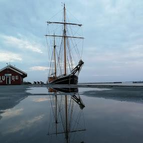 Boat refleksion  by Karl Erik Straarup - Transportation Boats