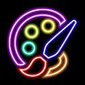 Magic Doodle Art - Neon Paint Art - Neon Color Art icon