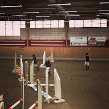 Photo: Bangång inför semifinalen där Malin och Amanda från UARK ska rida Foto: Tove Uvemo Moritz