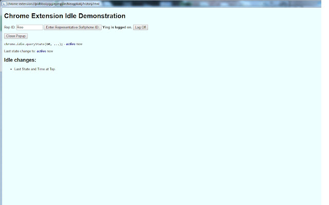 Chrome Extension Idle Employee version 5.8