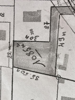 Vente terrain 1085 m2